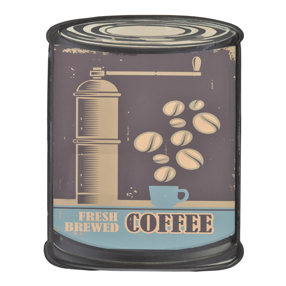 €9 METAL WALL DECOR 'COFFEE' 20X26