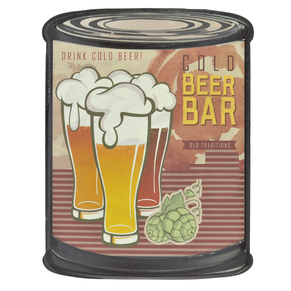 €9 METAL WALL DECOR 'BEER BAR' 20X26