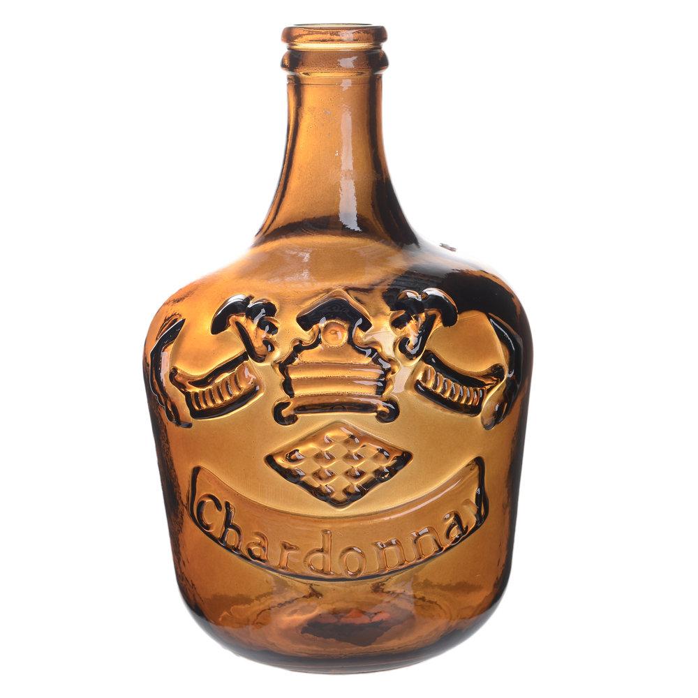 €32 GLASS VASE/BOTTLE IN ORANGE COLOR 18X18X30