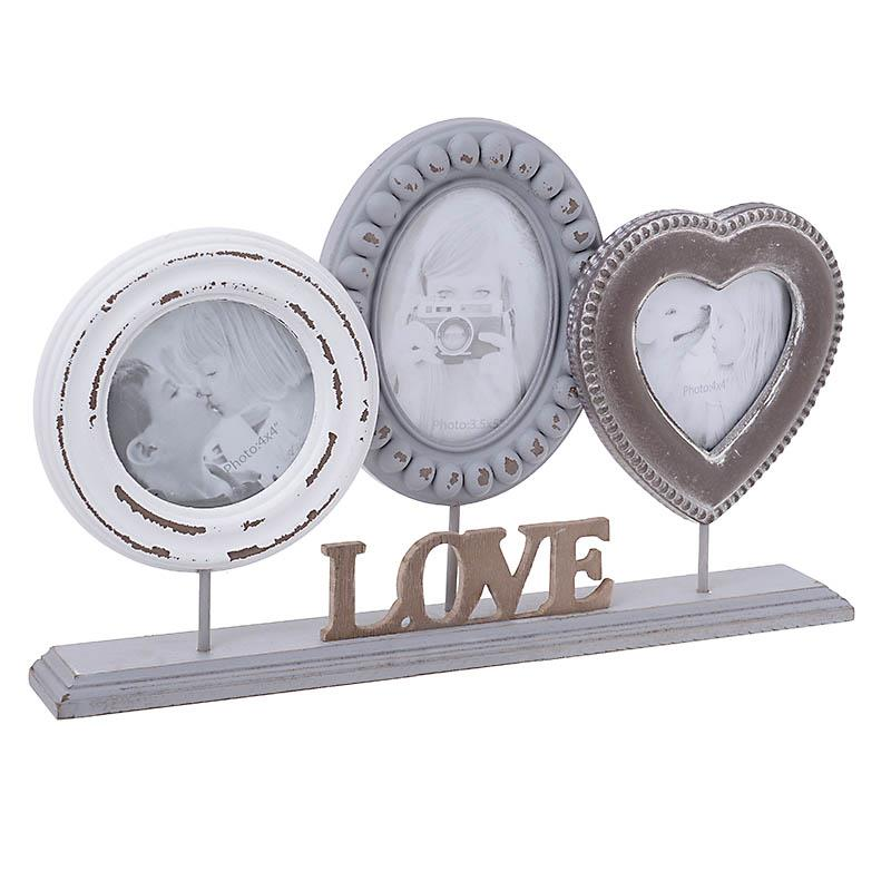 €30 WOODEN FRAME LOVE W/3 SECTIONS 39Χ5Χ28