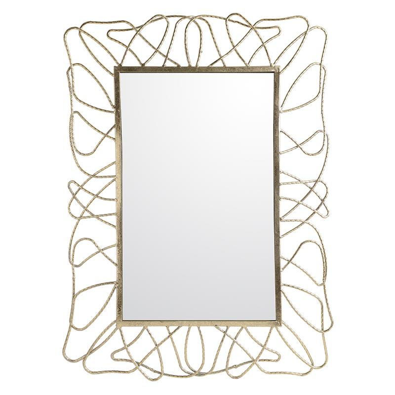 €110 METAL WALL MIRROR IN GOLD COLOR 49X2X67