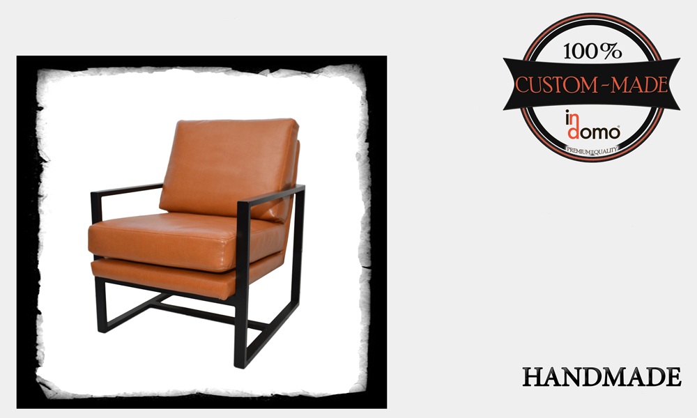 "CUSTOM-MADE ""INDUSTRIAL"" METAL CHAIR PERSONALIsED BY YOUR CHOICE OF FABRICS. (TO ORDER €270 + 3m FABRIC)"