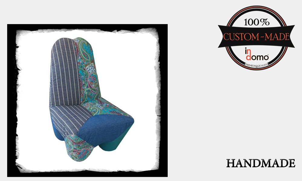 "CUSTOM-MADE ""NEW ERA"" ARMCHAIR PERSONALIsED BY YOUR CHOICE OF FABRICS (TO ORDER €300 + 4m FABRIC)"
