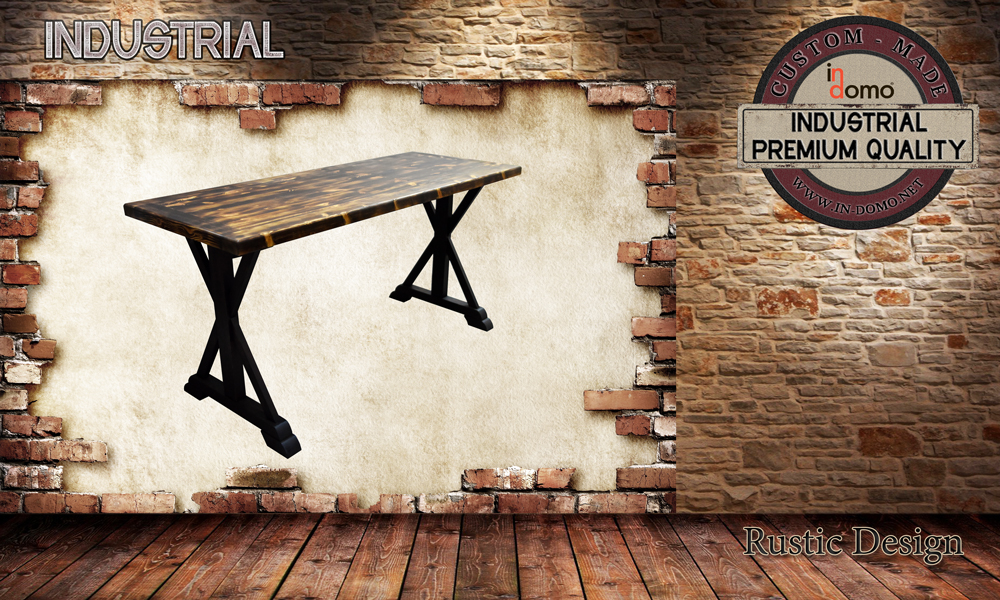 CUSTOM-MADE Rustic desk table PERSONALIsED BY YOUR CHOICE OF PAINTS AND DIMENSIONS. 150x60x75 (TO ORDER at €490)