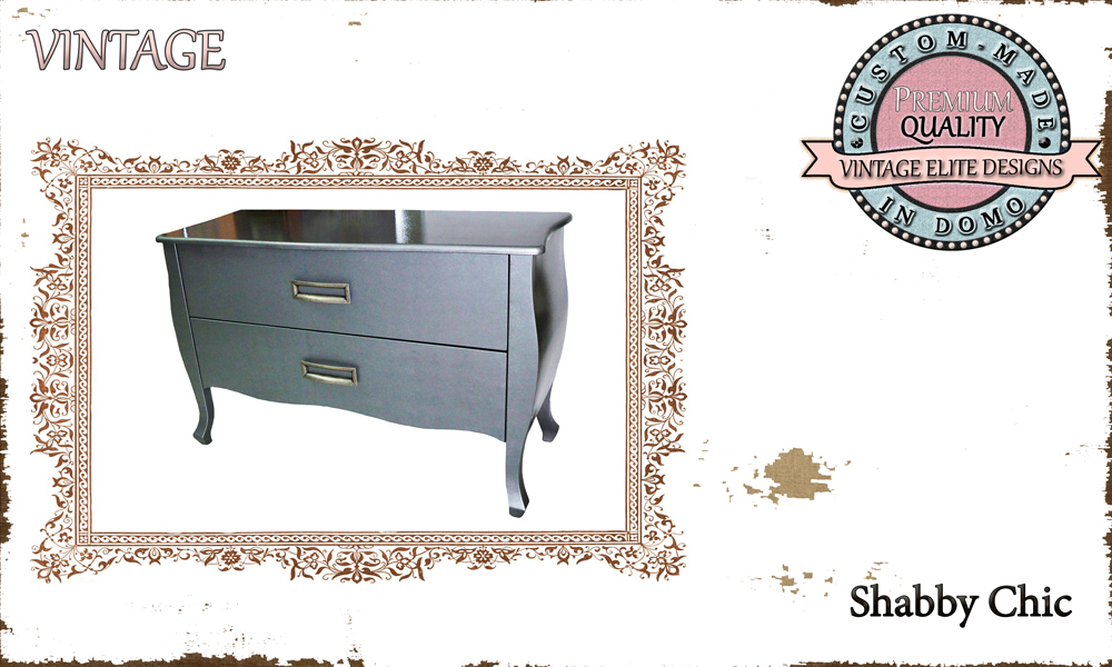 CUSTOM-MADE Shabby Chic chest of drawers PERSONALIsED BY YOUR CHOICE OF PAINTS AND DIMENSIONS. 121x56x75 (TO ORDER AT €540)