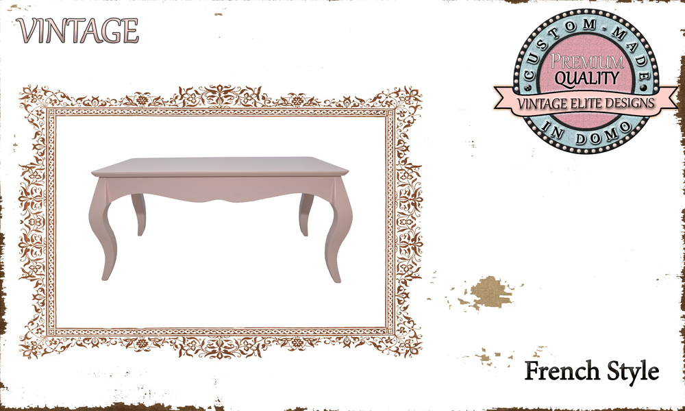 CUSTOM-MADE FRENCH STYLE coffee table PERSONALIsED BY YOUR CHOICE OF PAINTS AND DIMENSIONS. 90x50x42 (TO ORDER AT €220)