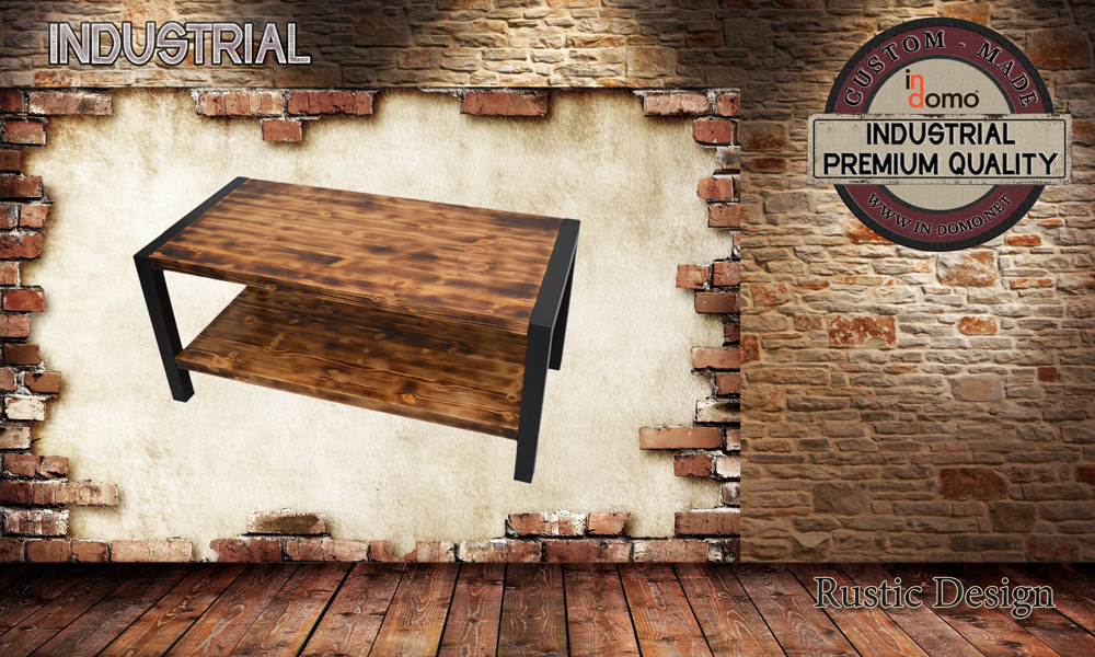 CUSTOM-MADE Industrial coffee table PERSONALIsED BY YOUR CHOICE OF PAINTS AND DIMENSIONS. 110x55x50 (TO ORDER AT €190)