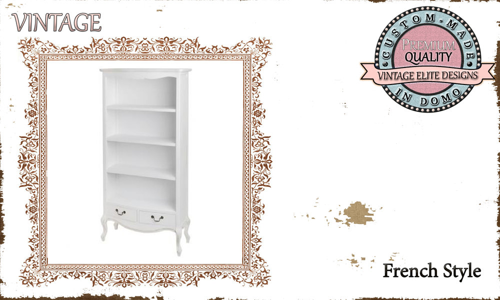 CUSTOM-MADE vintage bookshelf PERSONALIsED BY YOUR CHOICE OF PAINTS AND DIMENSIONS. 100x32x180 (TO ORDER AT €600)