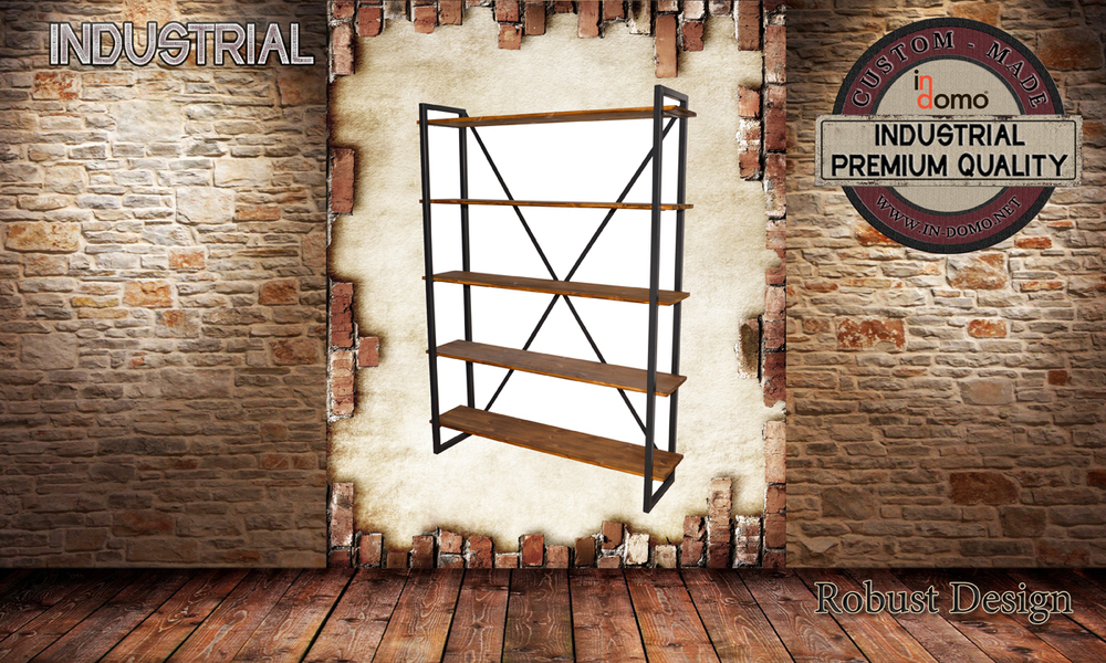 CUSTOM-MADE Industrial shelf PERSONALIsED BY YOUR CHOICE OF PAINTS AND DIMENSIONS. 135x33x183 (TO ORDER AT €390)