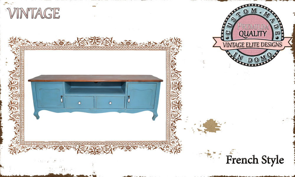 CUSTOM-MADE FRENCH STYLE TV-stand PERSONALIsED BY YOUR CHOICE OF PAINTS AND DIMENSIONS. 140x35x50 (TO ORDER AT €550)
