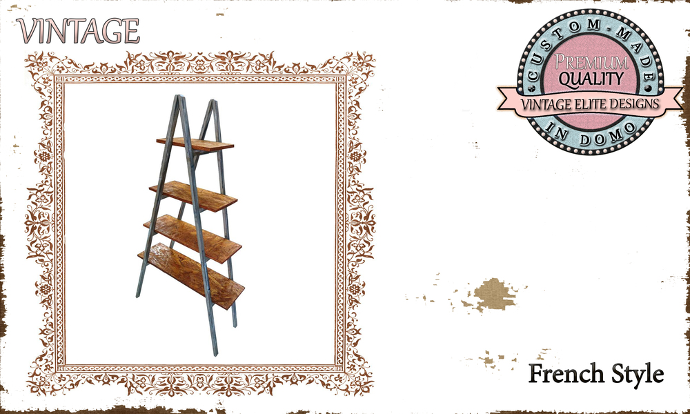 CUSTOM-MADE FRENCH STYLE SHELF PERSONALisED BY YOUR CHOICE OF PAINTS AND DIMENSIONS. 94X37X175 (TO ORDER AT €190)