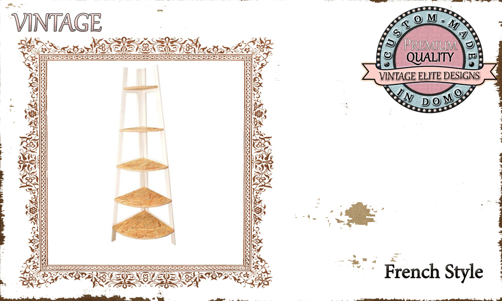 CUSTOM-MADE FRENCH STYLE corner SHELF PERSONALIsED BY YOUR CHOICE OF PAINTS AND DIMENSIONS. 80X180 (TO ORDER AT €210)