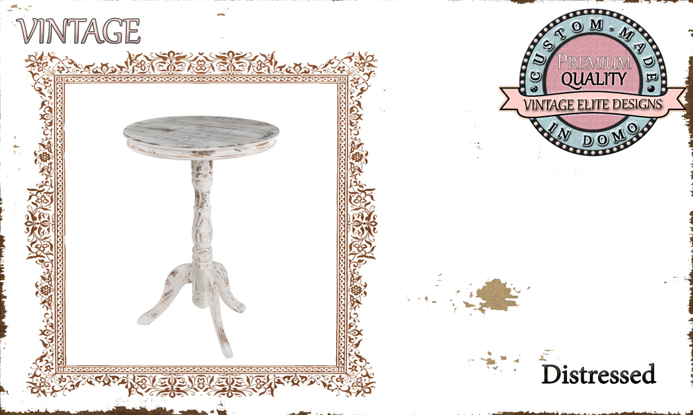 Custom-made distressed SIDE-TABLE PERSONALIsED BY YOUR CHOICE OF PAINTS AND DIMENSIONS. H:80 R:48 (TO ORDER AT €250)