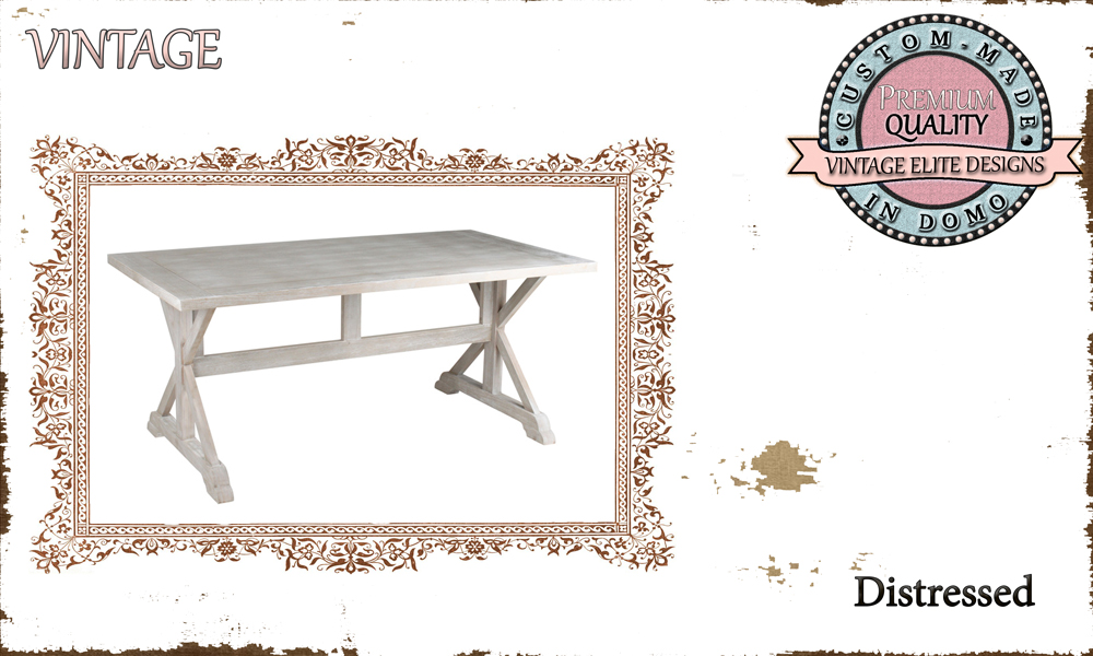 CUSTOM-MADE DINING TABLE PERSONALIsED BY YOUR CHOICE OF PAINTS AND DIMENSIONS. 180x90x76 (TO ORDER at €600)