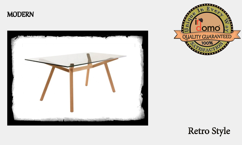CUSTOM-MADE Retro DINING TABLE with SAFETY GLASS personalised to your choice of paints and dimensions. 180X90X78 (TO ORDER at €700)