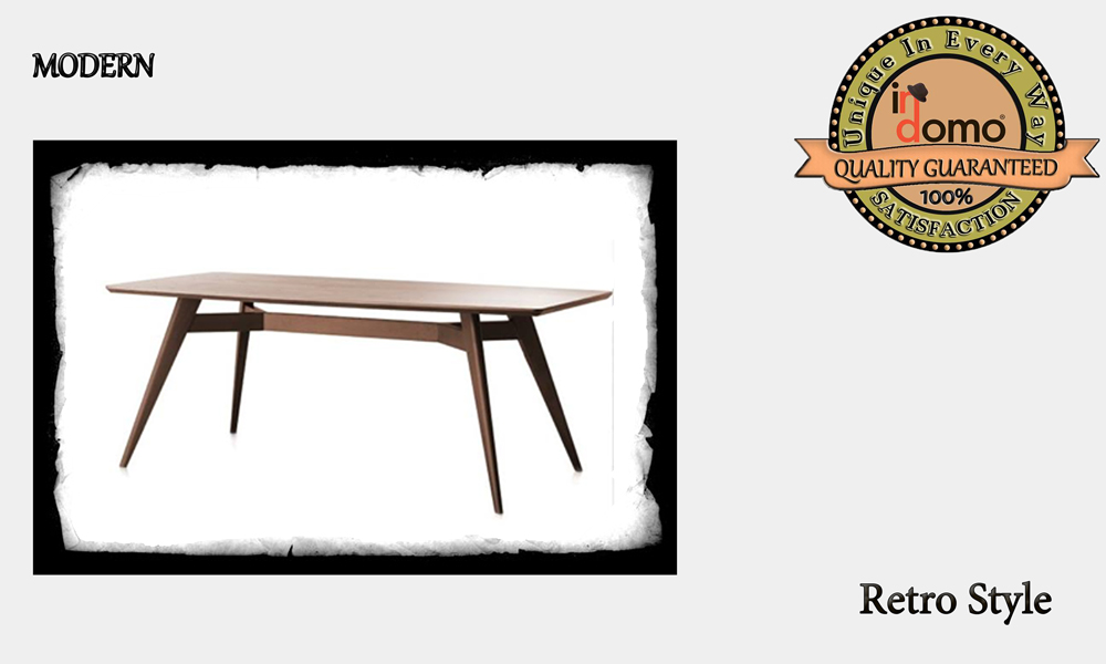 CUSTOM-MADE RETRO DINING TABLE personalised to your choice of pains and dimensions. 180X90X78 (TO ORDER AT €580)
