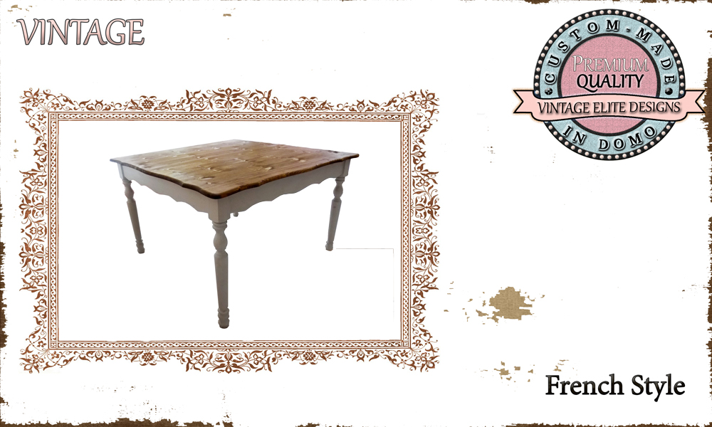 Ccustom-made DINING TABLE personalised to your choice of paints and dimensions. 120X120X76 (TO ORDER AT €550)