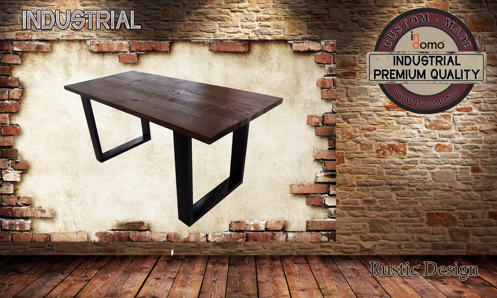 CUSTOM-MADE Industrial DINING table PERSONALIZED BY YOUR CHOICE OF PAINTS AND DIMENSIONS. 180x82x79 (TO ORDER AT €490)