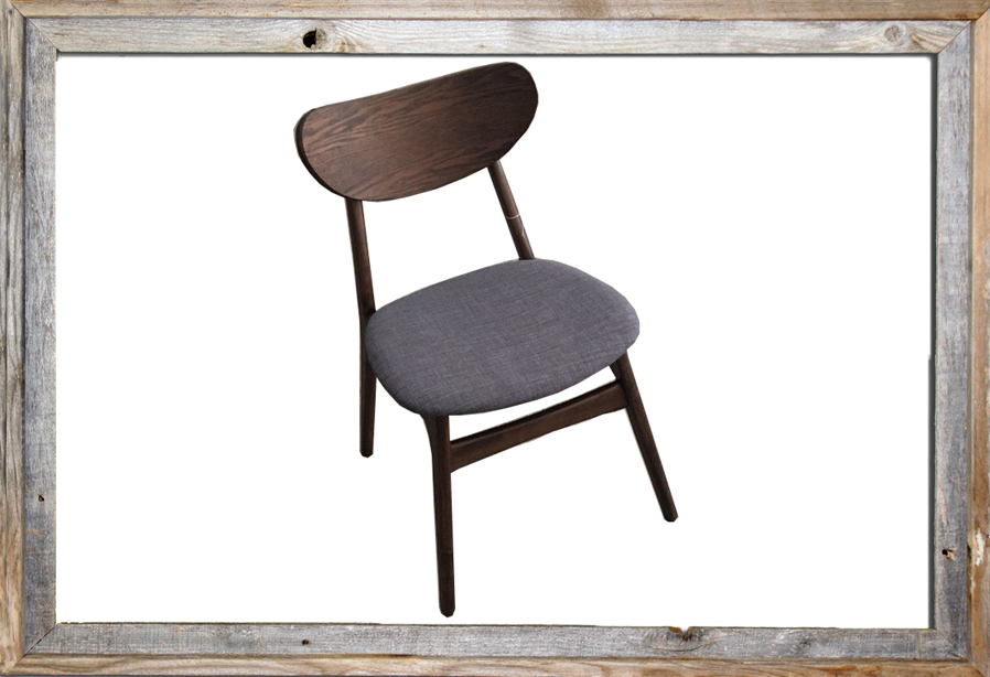 €88 D. WALNUT GREY WITH FABRIC TMH-458 (TO ORDER AT €100 + 0.5m fabric)