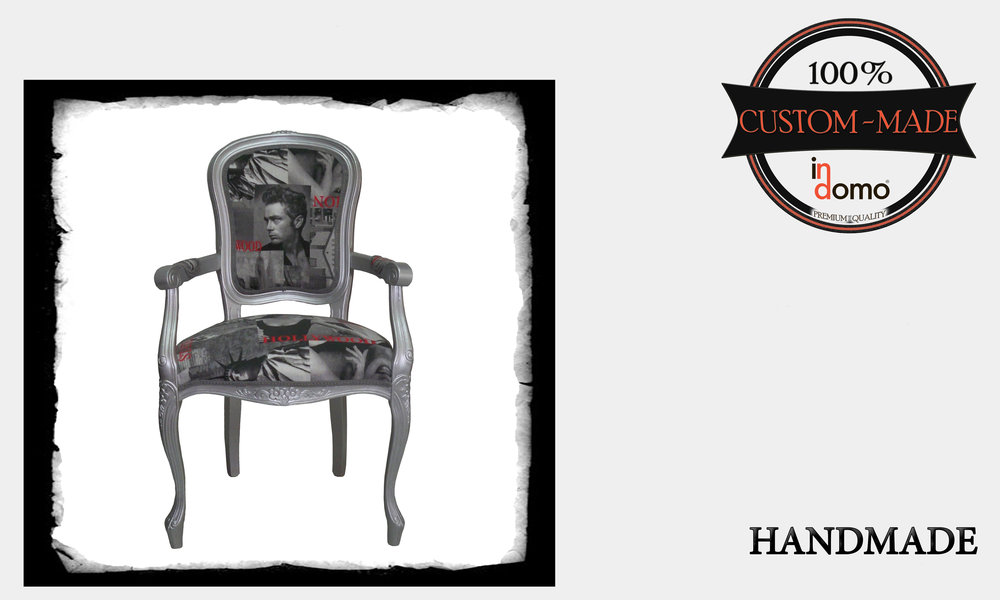 SHABBY CHIC ARMCHAIR PERSONALisED BY YOUR CHOICE OF PAINTS AND FABRICS. (TO ORDER AT €250 + 1 MTR FABRIC)