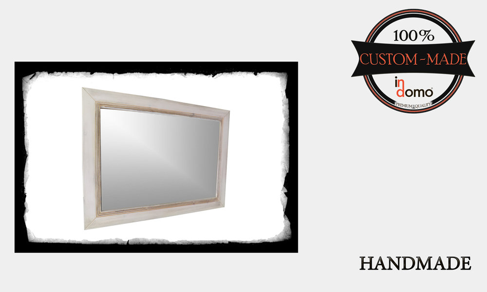 CUSTOM-MADE MIRROR PERONALIsED BY YOUR CHOICE OF PAINTS AND DIMENSIONS. 90X60. (TO ORDER AT €140)