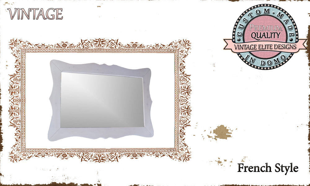 CUSTOM-MADE french style MIRROR PERONALIsED BY YOUR CHOICE OF PAINTS AND DIMENSIONS. 90X60. (TO ORDER AT €140)