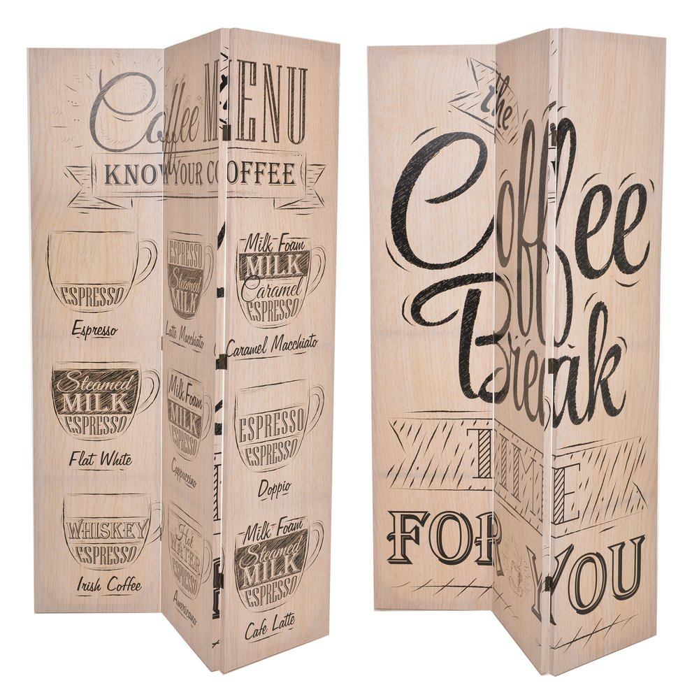 €157 CANVAS PRINTED SCREEN COFFEE BREAK 120X180 (DOUBLE SIDE)