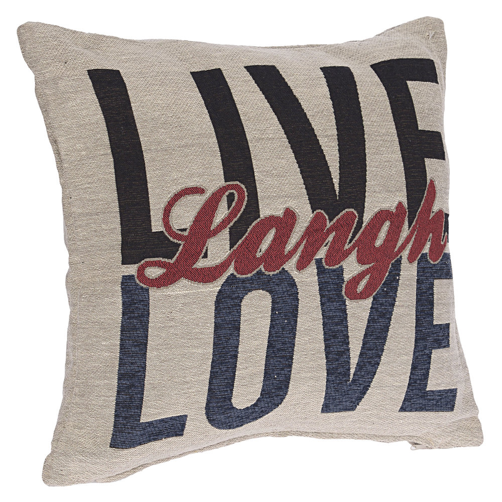 €26 FABRIC CUSHION  'LOVE/LOVE' 45X45