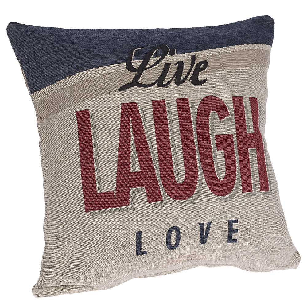€26 FABRIC CUSHION 'LAUGH' 45X45