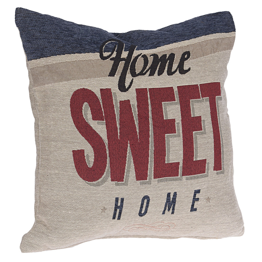 €26 FABRIC CUSHION 'SWEET HOME' 45X45