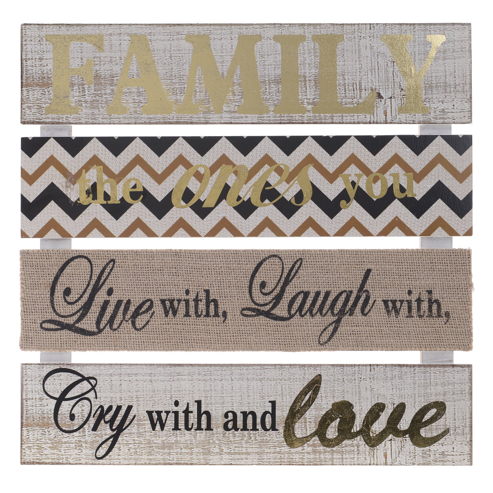 €19 WOODEN WALL DECORATION FAMILY 33X1.5X34