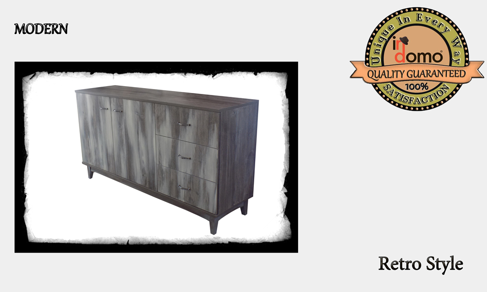 "CUstom-made Buffet ""Rustic OAK"" PERSONALIsED BY YOUR CHOICE OF PAINTS AND DIMENSIONS,  160X45.5X86 (TO ORDER AT €650)"