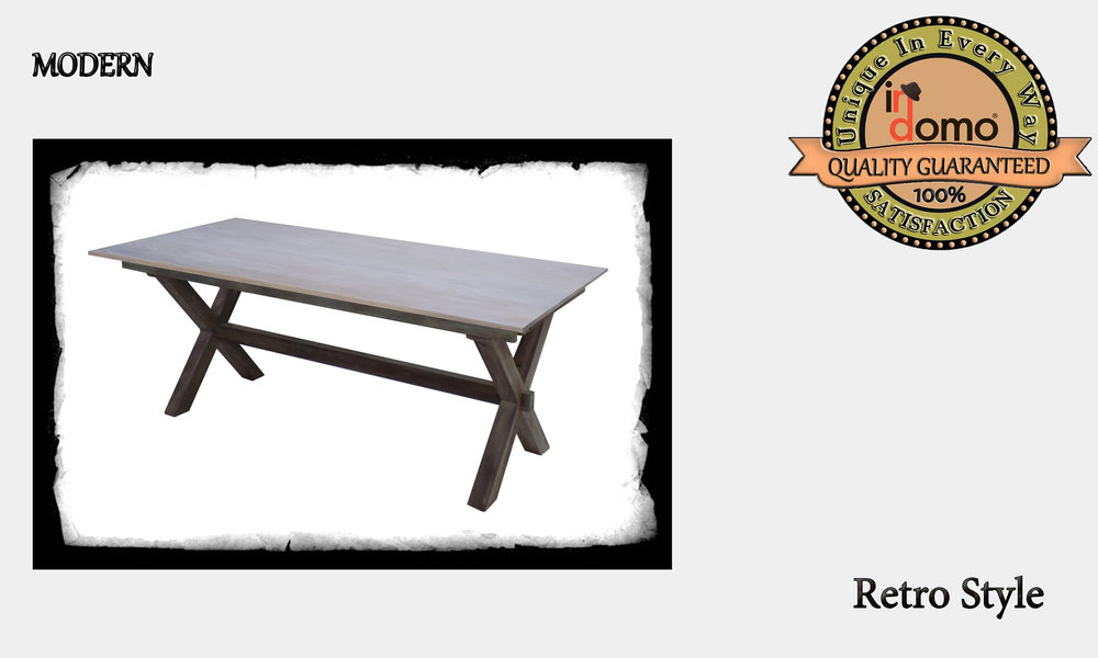 """CUSTOM-MADE """"X-shape"""" DINING table PERSONALIZED BY YOUR CHOICE OF PAINTS AND DIMENSIONS. 180x90x76 (TO ORDER AT €700)"""