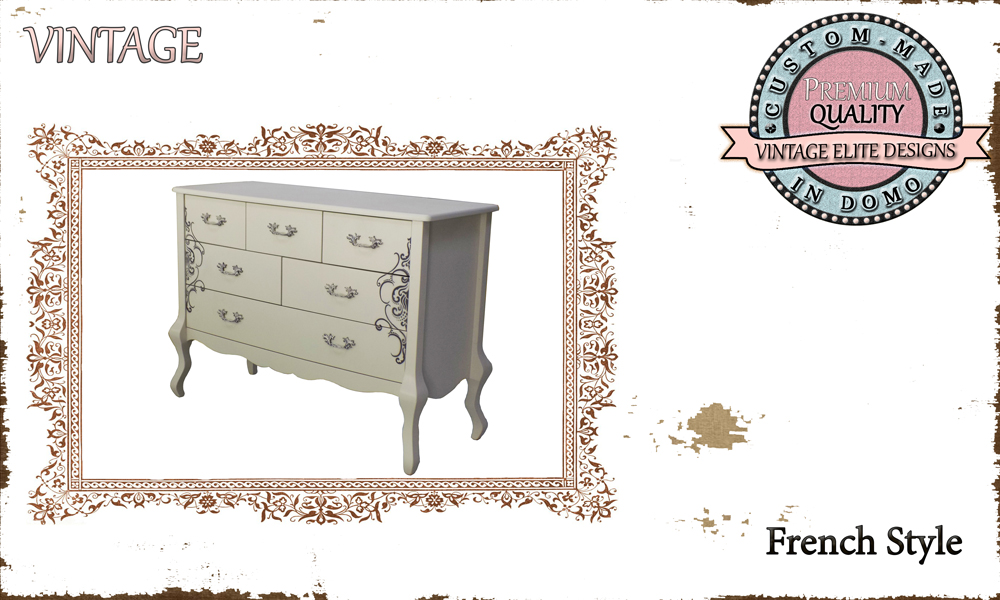 CUSTOM-MADE ''stencil'' chest of dRAWERs PERSONALIsED BY YOUR CHOICE OF PAINTS AND DIMENSIONS. 112x47x80 (TO ORDER AT €600)