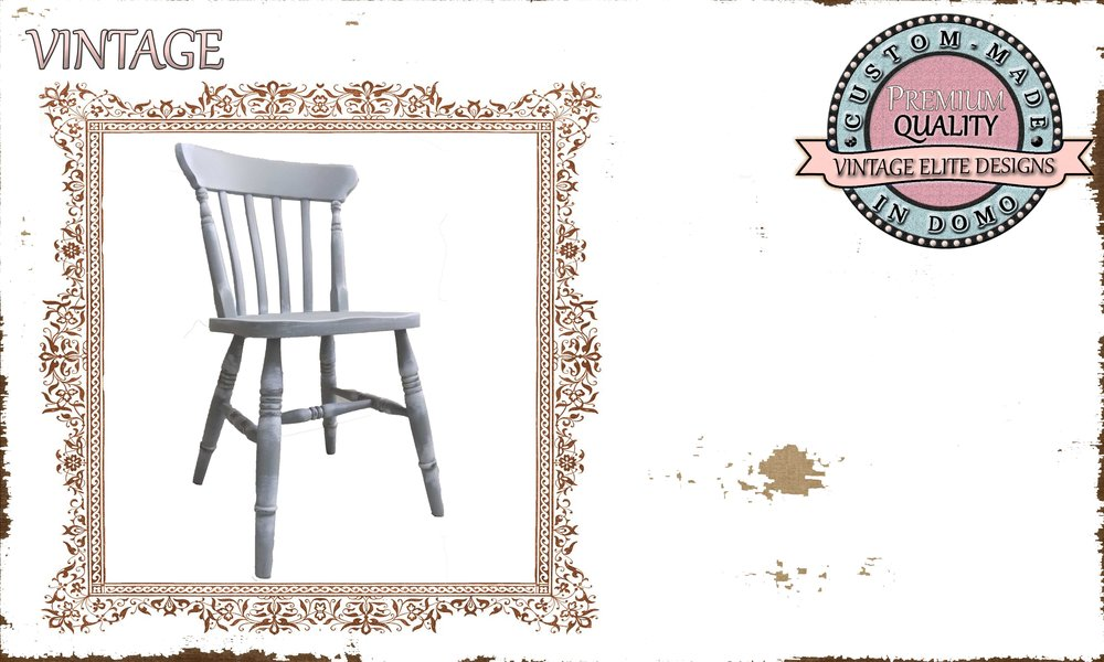 """""""Linda"""" dining CHAIR PERSONALisED BY YOUR CHOICE OF PAINTS. (TO ORDER AT €140)"""