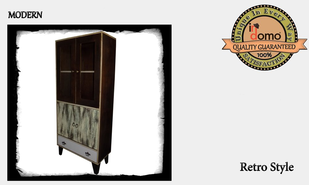 "CUSTOM-MADE ""retro"" cabinet PERSONALIsED BY YOUR CHOICE OF PAINTS AND DIMENSIONS. 70x32x160 (TO ORDER AT €550)"