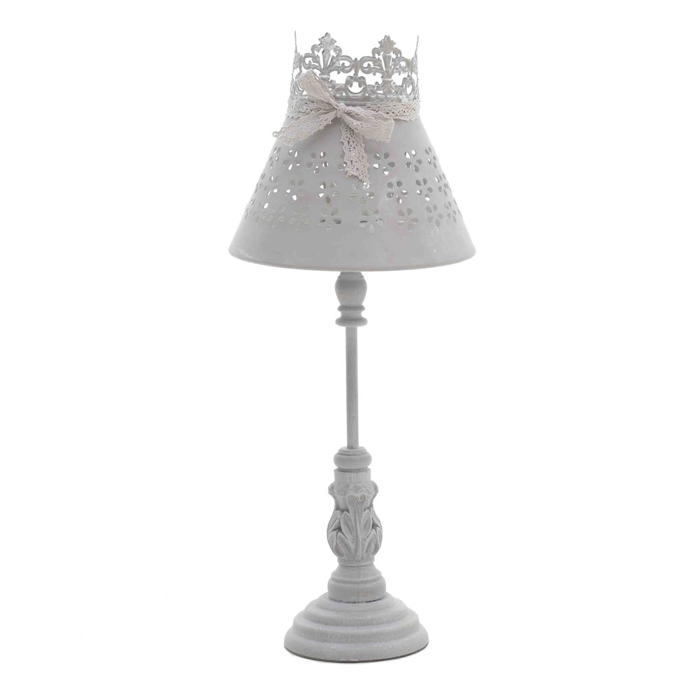 €58 WOODEN TABLE LAMP IN GREY COLOR D20X48