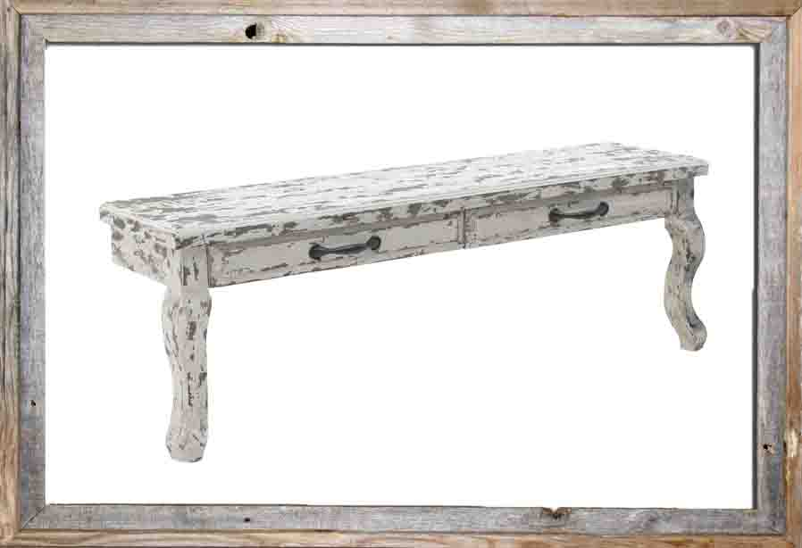 €220 WOODEN WALL TV STAND IN ANTIQUE CREME COLOR 95Χ22Χ33