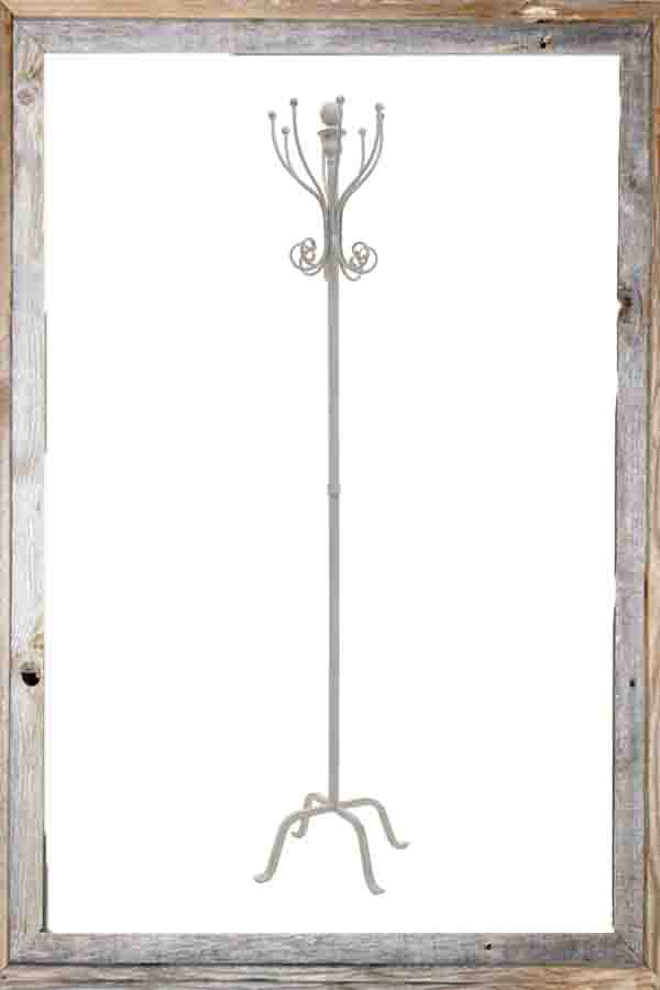 €105 METAL COAT RACK IN BEIGE/GREY COLOR 32Χ32Χ177