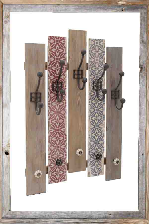 €90 WOODEN WALL HANGER IN BROWN COLOR 50X10X75
