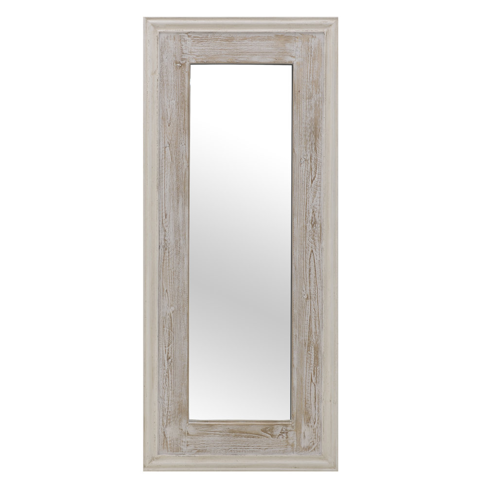 €390 WOODEN FLOOR MIRROR IN CREME COLOR 70X6X170