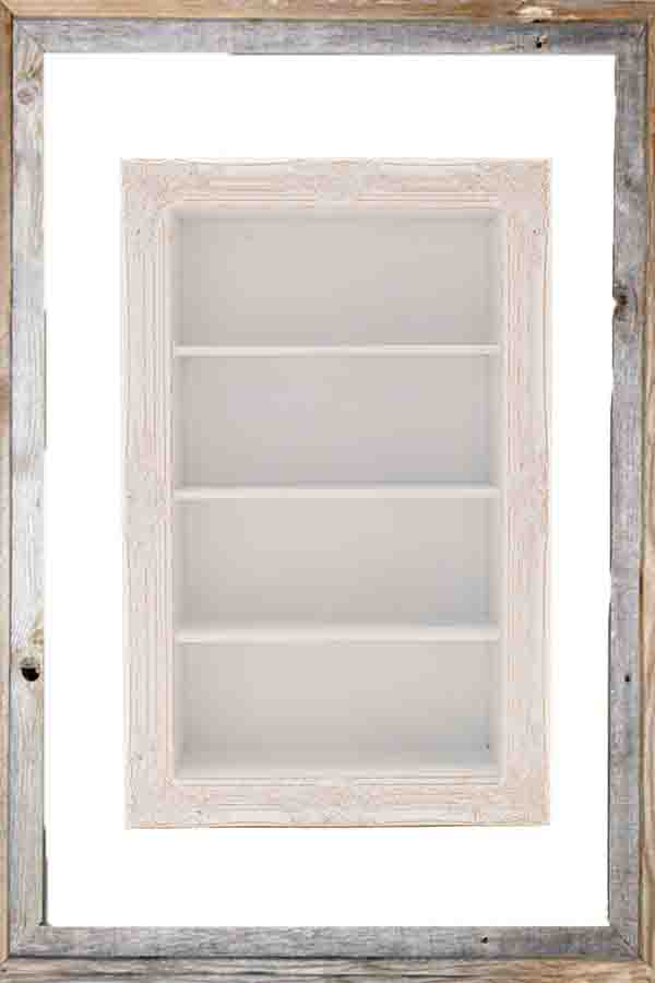 €280 POLYRESIN WALL SHELF IN ANTIQUE WHITE COLOR 64X19X100