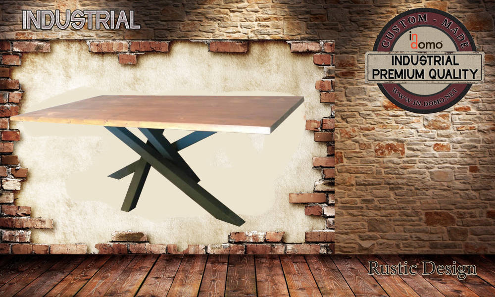 CUSTOM-MADE Industrial DINING table PERSONALIZED BY YOUR CHOICE OF PAINTS AND DIMENSIONS. 180x90x75 (TO ORDER AT €750)