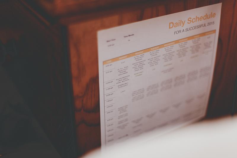 My own schedule