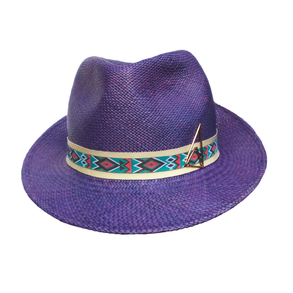 Purple Panama Trilby