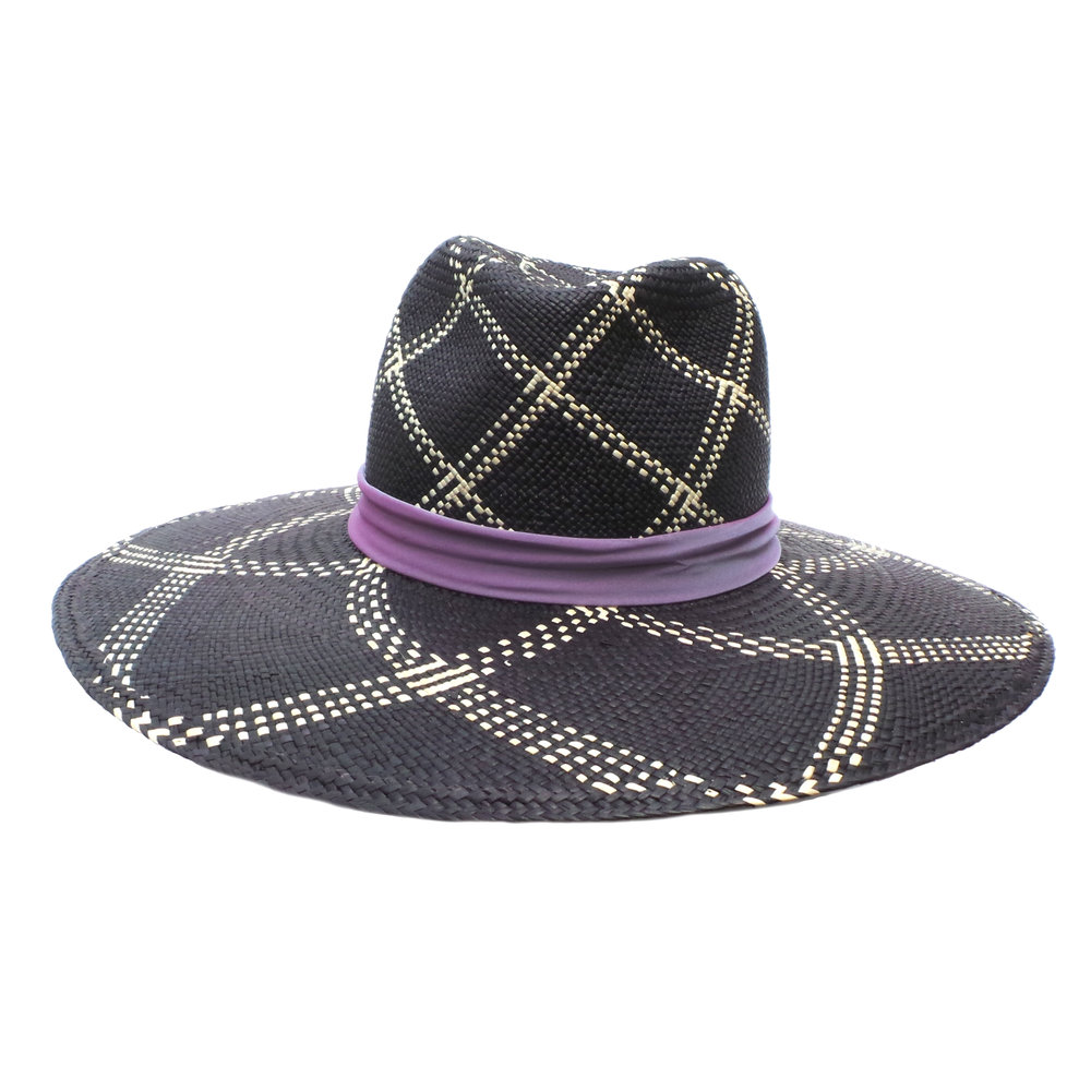 Large Brim Black Fedora