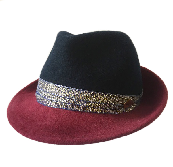 Navy Crown Trilby