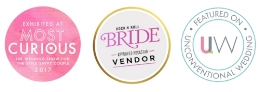 We are proud to have been given the Rock n Roll Bride approved Rocktar Vendour stamp of approval!