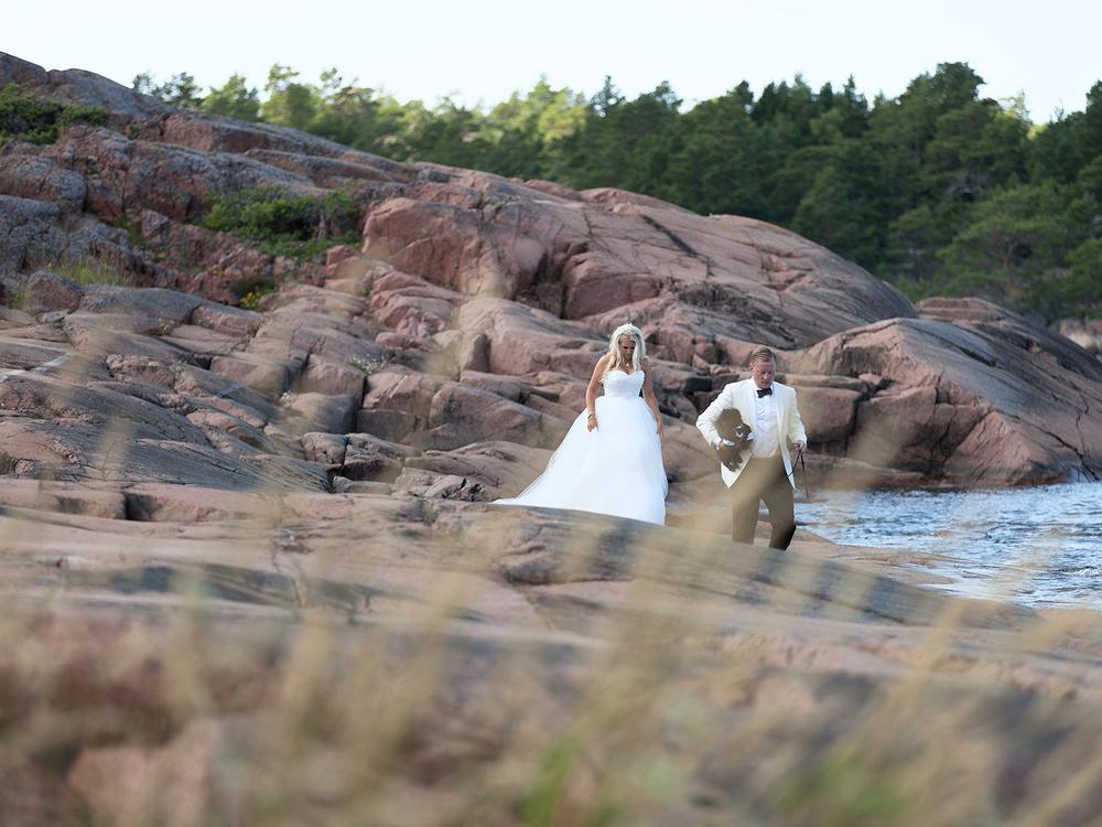 Bröllopsfotografering på Havsvidden, Åland Fotograf: Fredrik Wahlström