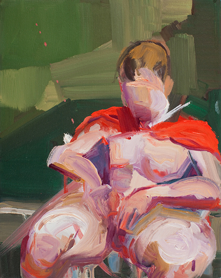 Untitled (Man of Tomorrow 06), 10 x 8 inches, oil on canvas, 2010